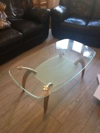 REDUCED Glass top coffee table