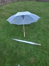 Wedding Umbrellas. White. X2.