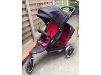 Phil and teds explorer double black and red £160