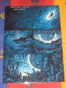 PARKWAY DRIVE - DEEP BLUE  -  PROMO  COUNTER POSTER