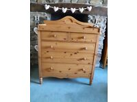 MAMAS & PAPAS PINE BABY CHANGING UNIT WITH DRAWERS
