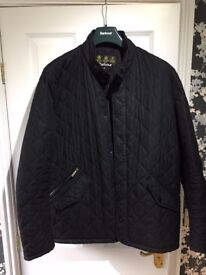 Barbour Mens Jacket Lifestyle Powell Quilted, Black Size: XL