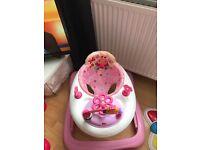 Baby starts baby walker