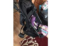 OBaby Pushchair - as new with raincovers