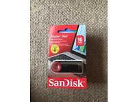 1 x Genuine SanDisk CRUZER FORCE Flash Drive 16GB