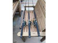 Penn surfblaster 2 8000 reels x3 plus Greys 7 ft advent 30/50 boat rods x3