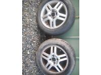 2 x ford focus alloys 15""