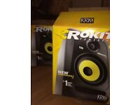 Krk rokit 5 studio monitors GEN 3 brand new condition