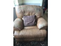 Reclining leather sofa 3 seater & 2 seater