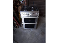 CANNON STAINLESS STEEL 600MM WIDE DOUBLE OVEN GAS COOKER IN YEOVIL
