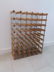 Wine Rack - wood and steel