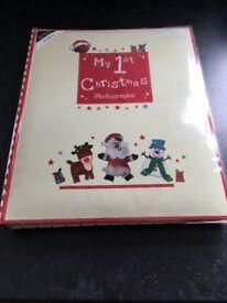 Baby's 1st Christmas Photo Album