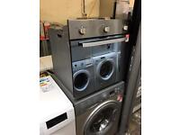 New hotpoint built in gas oven silver