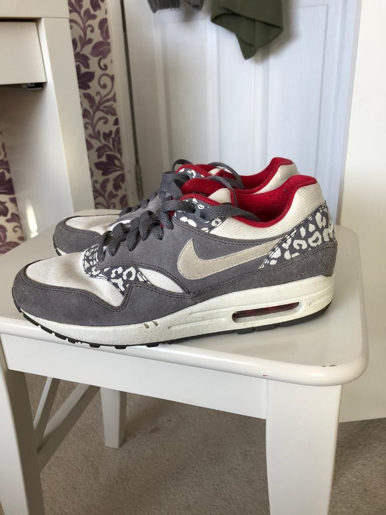 fbaae1df1828 Women s Nike Air max white grey leopard print trainers size 5 RRP £110