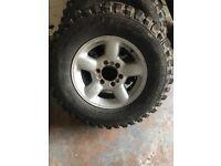 4 Insa turbo dakar tyres and alloys £250 pajero discovery bargain