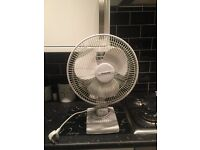 3 SPEED OSCILLATING FREE-STANDING COOLING DESK TABLE FAN