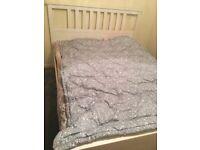 Ikea Hemnes double bed frame (white)