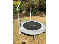Small trampoline with handlebar