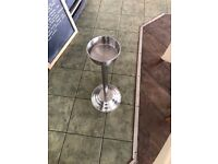 Silver ice bucket stand