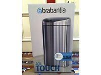 Brabantia Touch Bin, 40 L - Matt Steel with Fingerprint Proof Lid
