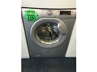 HOOVER 7KG DIGITAL SCEEEN WASHING MACHINE IN SILIVER. D