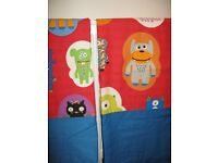 """Next Monster Crazy Curtains 66"""" x 54"""" Brand New and lined"""