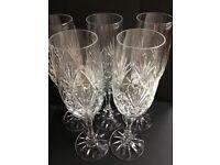 Crystal Champagne Glasses x 5