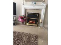 Traditional Style Gas Fire - balances flue