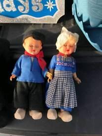 Old fashion Plastic dolls