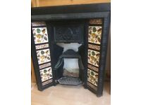 Fireplace tiled surround