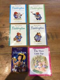 6x Paddington, the 3 little pigs & the jungle book books