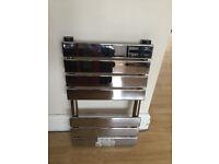 650x400mm Chrome Flat Panel Ladder Towel Radiator