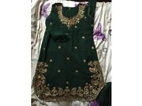 Small green asian/indian party clothes