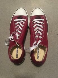 MAROON/RED SIZE 11 CONVERSE