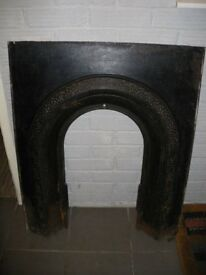 Arched Victorian Cast Iron Fire Place Insert