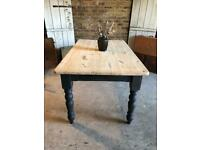 Rustic farmhouse kitchen dining table 6 seater