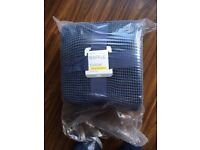 Brand New NEXT Navy Blue cotton waffle throw Single 150 x 200cm