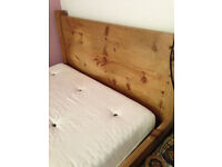 Rustic Chunky Mid Oak double bed handmade