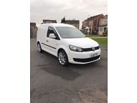 """VW Caddy Van Custom 1.6 TDI 2012 white 18"""" Alloys Colour coded bumpers carpet lined"""
