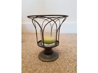 Partylite Garden Sanctuary wire votive candle holder. Ex display item with box.