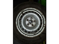 215/65R 16 Tires and wheels (possibly VW transporter) x 4