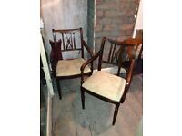 Pair of old dining chairs