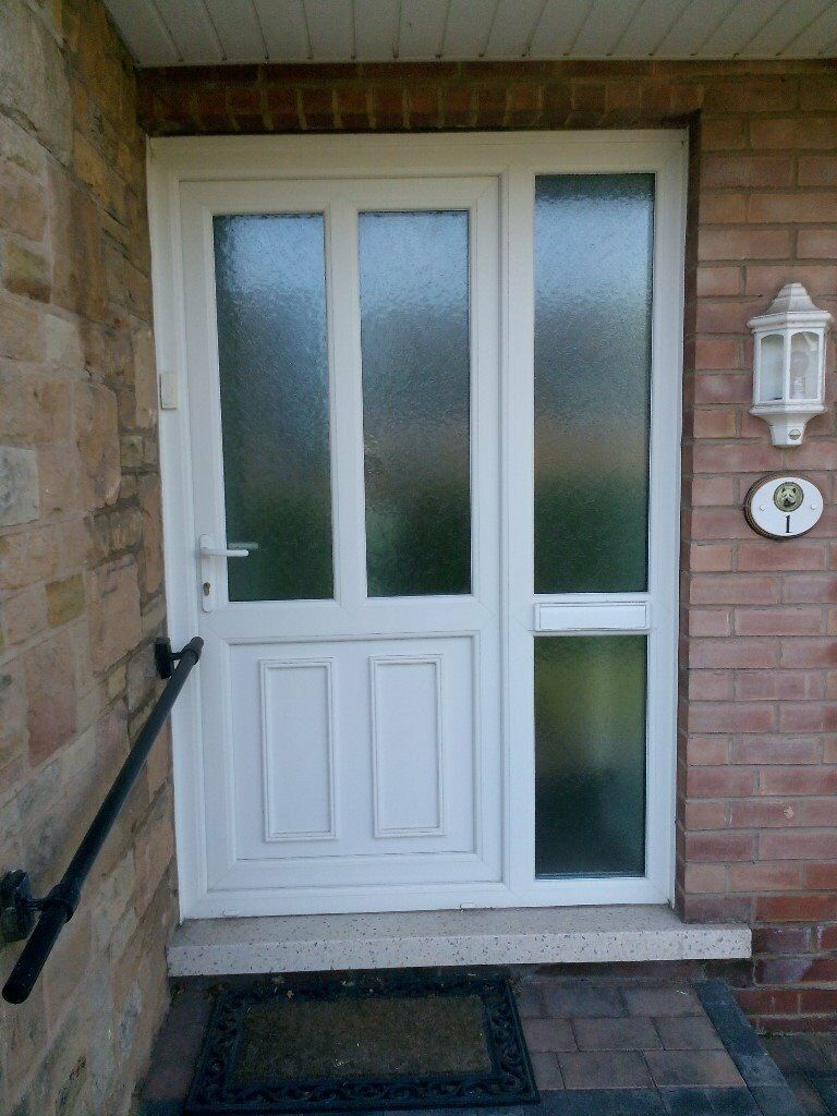 Upvc Front Door With Side Panel And Letter Box In Gedling