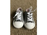 Infant Converse Size 5 Silver