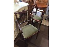 A pair of carver chairs great looking chairs