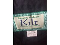 Men's black kilt 34