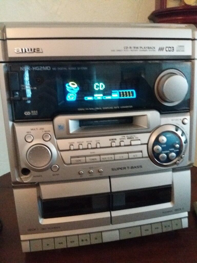 Aiwa retro stereo with mini disc, cd, tape and radio | in Torquay, Devon |  Gumtree