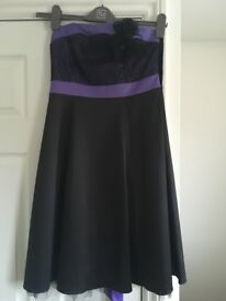 Purple and black red herring dress, ladies size 8