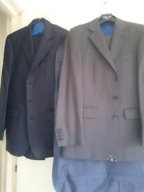 Two Charles Thrwhitt wool suits 40 l