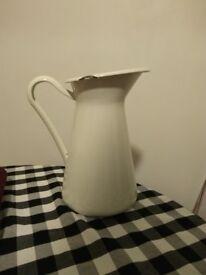 XL vintage style enamel jug / vase / pitcher